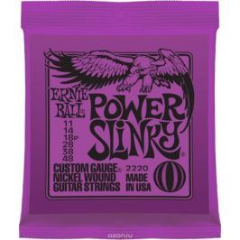 Ernie Ball Power Slinky Nickel Wound струны для электрической гитары (11-48)