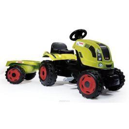 Smoby Трактор педальный CLAAS XL с прицепом Каталки, понициклы