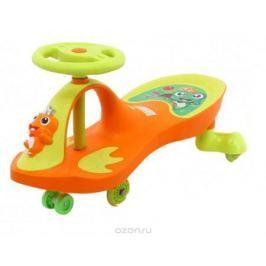 Bradex Машинка детская Бибикар-Лягушонок с полиуретановыми колесами цвет оранжевый