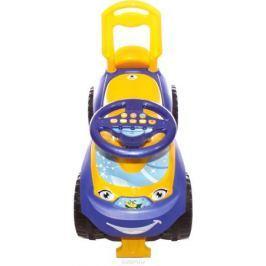 Doloni Машинка-каталка с музыкальным рулем Автошка, цвет фиолетовый желтый