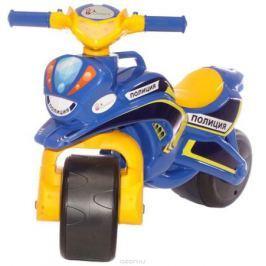 Doloni Байк-каталка Полиция, цвет синий желтый