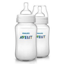 Philips Avent Бутылочка 330 мл, 2 шт. Соска со средним потоком для детей от 3 месяцев SCF566/27