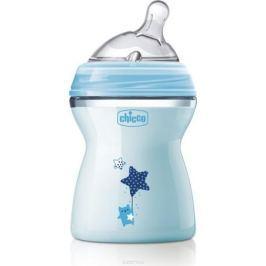 Chicco Бутылочка для кормления с силиконовой соской Natural Feeling от 2 месяцев цвет голубой 250 мл