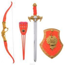 Играем вместе Набор оружия Три богатыря красный золотистый 7 предметов