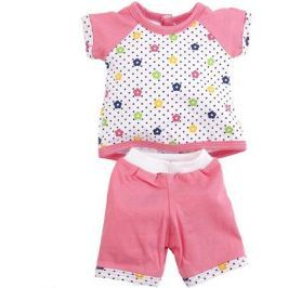 Карапуз Комплект одежды для куклы Туника и бриджи цвет розовый