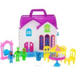 ABtoys Дом для кукол В гостях у куклы с мебелью и человечками