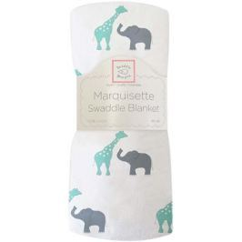SwaddleDesigns Пеленка тонкая Marquisette SC Giraffe Elephant