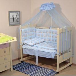 Топотушки Комплект детского постельного белья Мишутка цвет голубой 7 предметов