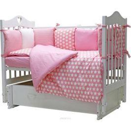 Топотушки Комплект детского постельного белья 12 месяцев цвет розовый 6 предметов
