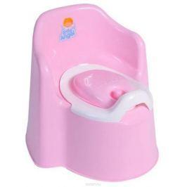 Little Angel Горшок детский Little King с крышкой цвет розовый