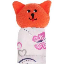 Наивный мир Кукла пальчиковая Кошка Мурка цвет оранжевый