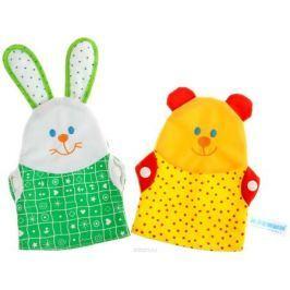 Sima-land Мягкая игрушка на руку Зайка и Мишка