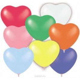 Шарик воздушный Сердце 8 цветов 50 шт