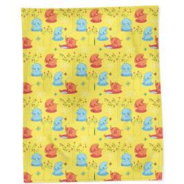 Bonne Fee Плед детский Слоны 100 см х 145 см, цвет: желтый