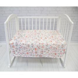 Baby Nice Плед-покрывало детский Micro Flannel Игрушки цвет белый 100 x 118 см