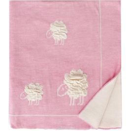 Eagle Плед детский Wolly цвет розовый 85 х 110 см