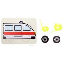Ракета Шнуровка-раскраска Скорая помощь и 2 колеса