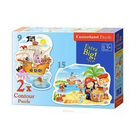Castorland Пазл для малышей Пиратские сокровища 2 в 1