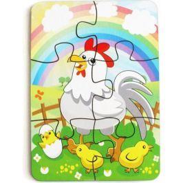 Игрушки Тимбергрупп Пазл для малышей Курица и радуга