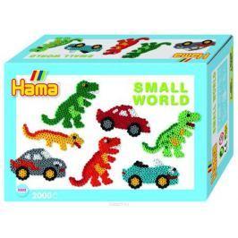 Hama Термомозаика Midi Маленький мир Динозавр Машина