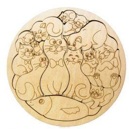 Smile Decor Пазл для малышей Пазл-раскраска Коты