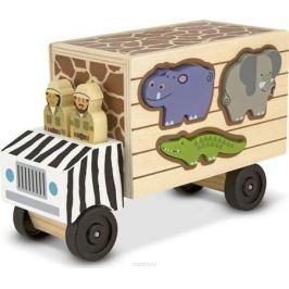Melissa & Doug Обучающая игра Сортировщик-грузовик Сафари