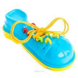 Пластмастер Игра-шнуровка Клоунский ботинок цвет желтый голубой