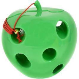 Пластмастер Игра-шнуровка для малышей Яблоко цвет зеленый