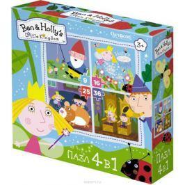 Ben&Holly Пазл для малышей В королевстве 4 в 1