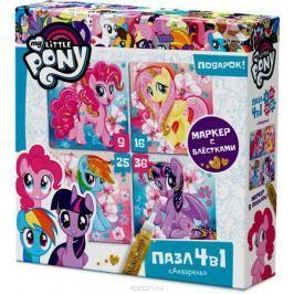 My Little Pony Пазл для малышей Акварель 4 в 1
