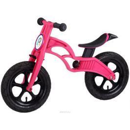 Pop Bike Беговел детский Flash с надувными колесами цвет розовый