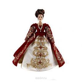 Коллекционная кукла Барби в стиле Фаберже. Ограниченная серия. Фарфор, пластик, ручная роспись, австрийские стразы, ткани, вышивка, искусственный жемчуг. Китай, конец XX века