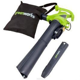 Воздуходув-пылесос электрический Greenworks GBV2800, 2800 Вт