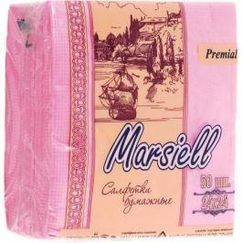 Premial Marsiel Салфетки декоративные двухслойные, цвет: розовый, 50 шт