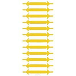 Шнурки силиконовые Hilace Group, цвет: желтый, 12 шт
