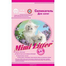 Наполнитель силикагелевый для кошачьего туалета для котят Mimi Litter (розовые гранулы) 3,6 л (1,81кг)