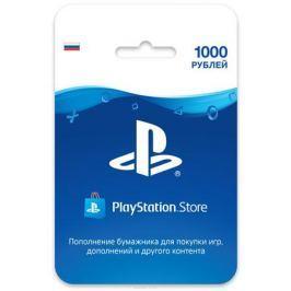 Playstation Store пополнение бумажника: Карта оплаты 1000 рублей