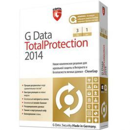 G Data TotalCare 2014. Лицензия на 1 год (на 3 ПК)