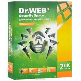 Dr.Web Security Space (2 ПК, 2 года)