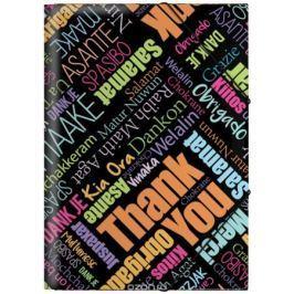 Erich Krause Папка на резинках Thank you! формат A4