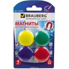 Brauberg Магнит для досок 5 см 4 шт