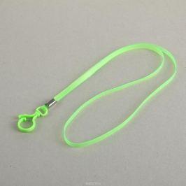 Лента для бейджа длина 38 см ширина 5 мм цвет зеленый