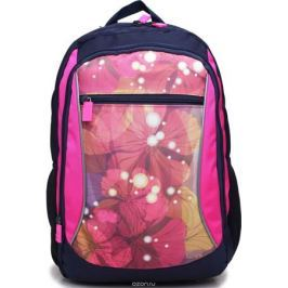 4ALL Рюкзак School цвет синий розовый RU72-02P