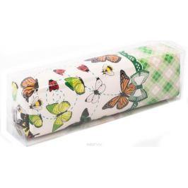 Calligrata Пенал школьный Бабочки цвет зеленый 2873676