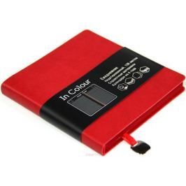 Канц-Эксмо Ежедневник In Colour недатированный 136 листов цвет красный формат А5-