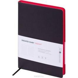Greenwich Line Ежедневник недатированный Insight 136 листов в линейку цвет красный черный