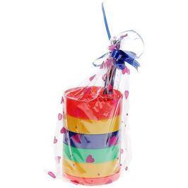Канцелярский набор Веер-радуга цвет красный 5 предметов 671501