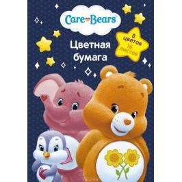 Care Bears Бумага цветная Заботливые мишки 16 листов 8 цветов