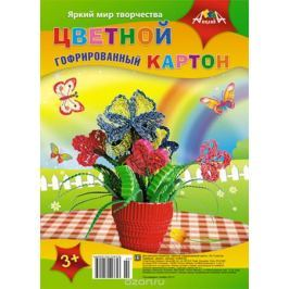 Апплика Набор цветного картона Букет 5 листов 5 цветов