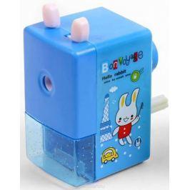 Точилка механическая с контейнером Классика с рисунком цвет синий 2924206